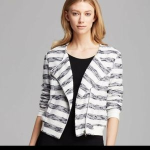 Sanctuary Striped Knit Moto Jacket